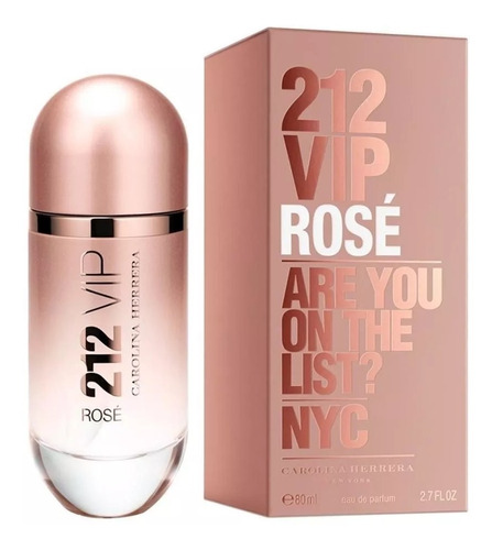 perfume carolina herrera 212 vip rose edp 80 ml importado