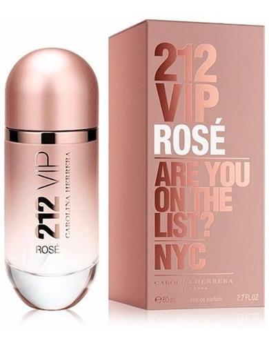 perfume carolina herrera 212 vip rose x 80ml. edp para mujer