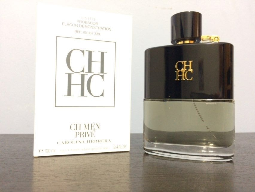 bf819558f4b7d Perfume Carolina Herrera Ch Men Privé Edt 100ml Tester - R  249,90 ...