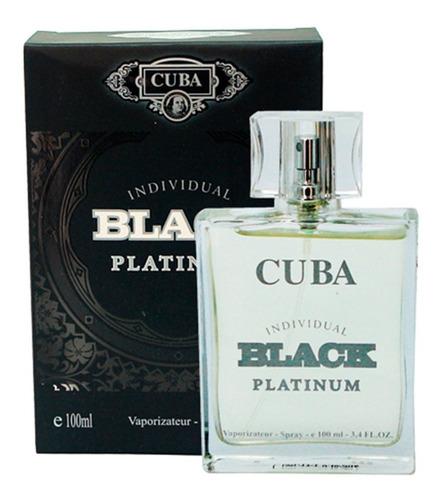 perfume cuba black platinum masculino 100ml
