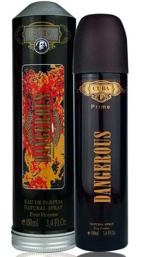 perfume cuba dangerous edp masculino prime 100 ml original