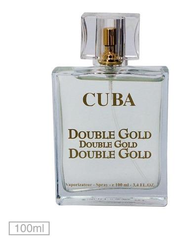 perfume cuba double gold edp masculino 100ml original
