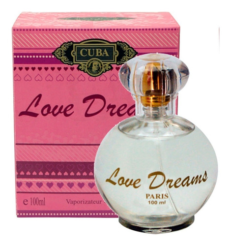 perfume cuba feminino love dreams edp 100 ml original