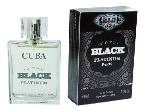 perfume cuba individual black platinum edp masculino 100ml