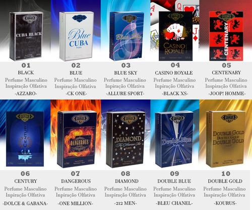 perfume cuba kit 1 cartonagem 100ml + 1 prime 100ml