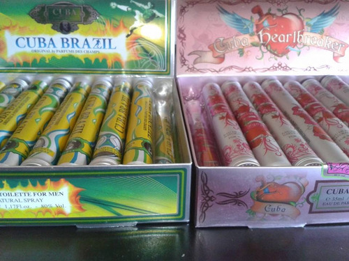 perfume cuba parís. 35 ml (packaging habano)