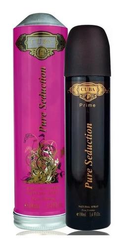 perfume cuba pure seduction 100ml edp feminino - original