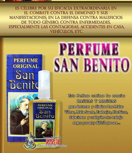 perfume de san benito - proteccion contra maleficios y males