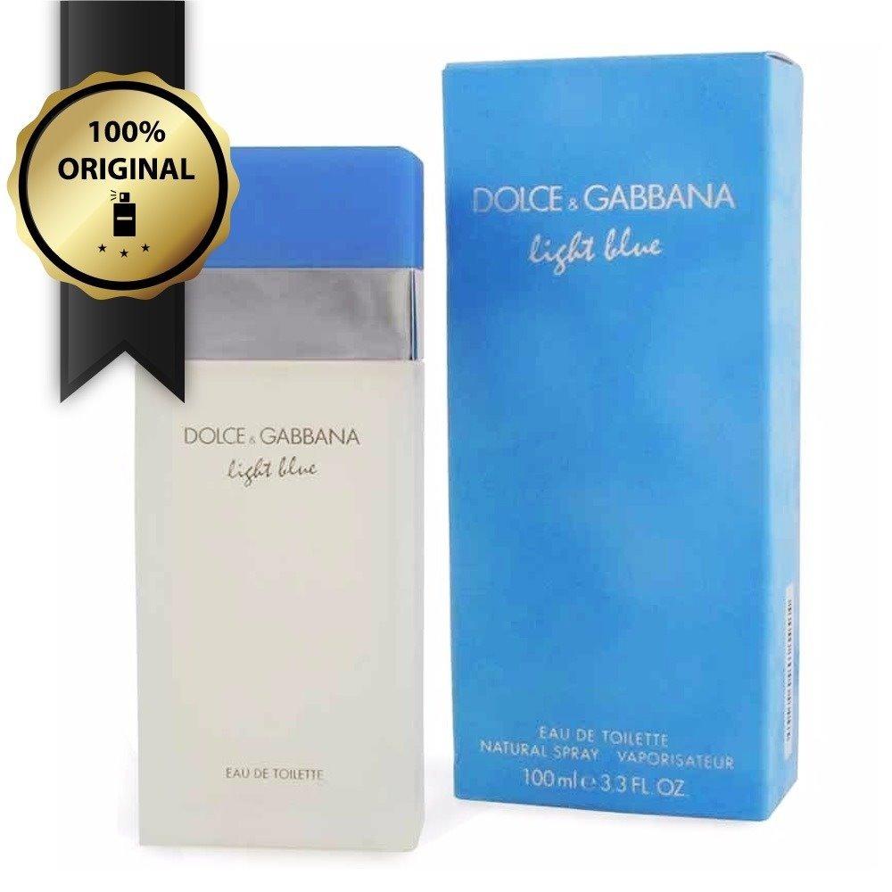 14a08fb4e perfume dolce   gabbana light blue feminino 100ml original. Carregando zoom.