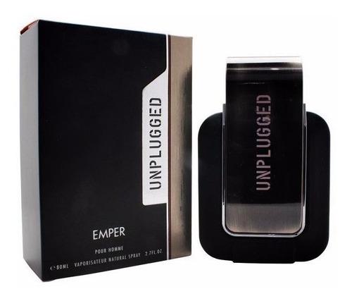 perfume emper unpluged 80ml - masculino - original