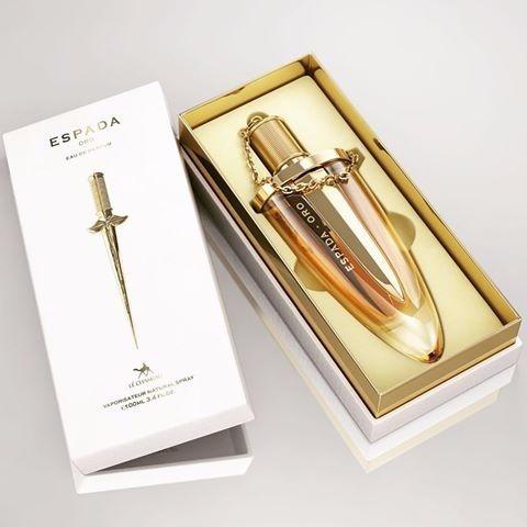 perfume espada oro mujer original envío gratis