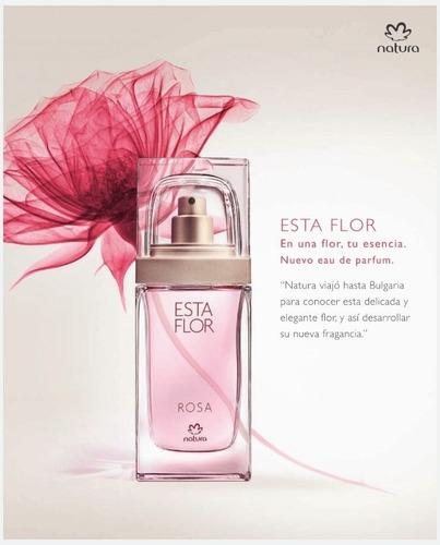 perfume esta flor: rosa o flor de laranjeira . 50ml. natura