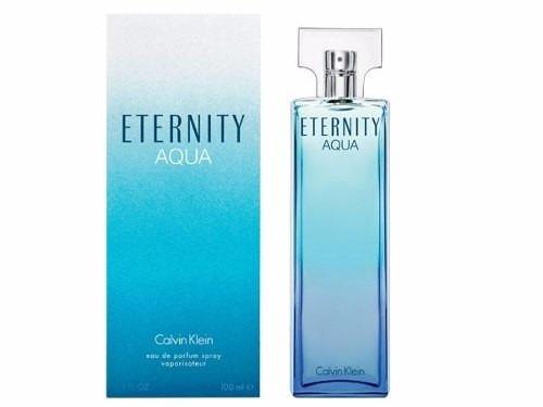 perfume eternity aqua calvin klein feminino 100ml edp - novo