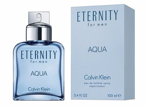 perfume eternity aqua calvin klein for men edt 100ml - novo