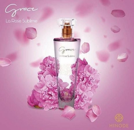 perfume feminino grace la rose sublime hinode 100ml.