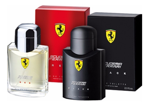 perfume ferrari black + ferrari red 125 ml -100% original.