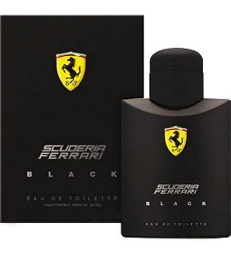 perfume ferrari black masculino 125ml 100% original nf-e