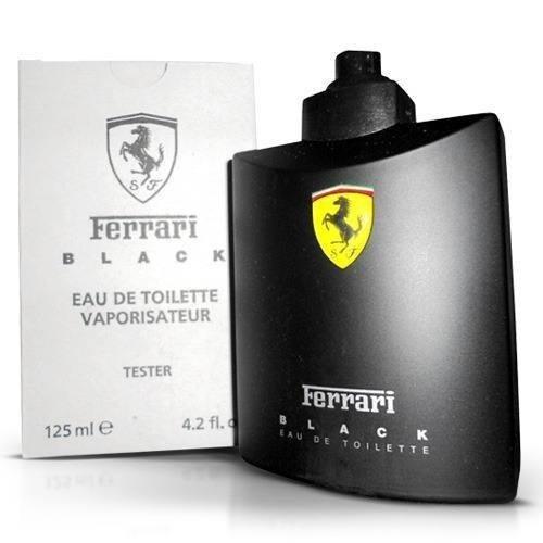 perfume ferrari black masculino 125ml edt original (tester)