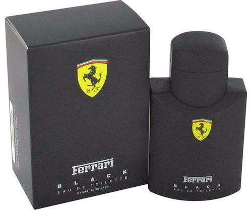 perfume ferrari ferrari black clásico 125ml para hombre orig