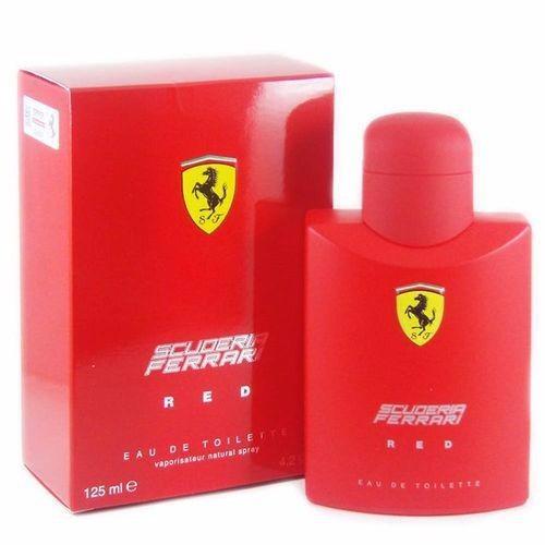 perfume ferrari red  125ml edt original nova embalagem