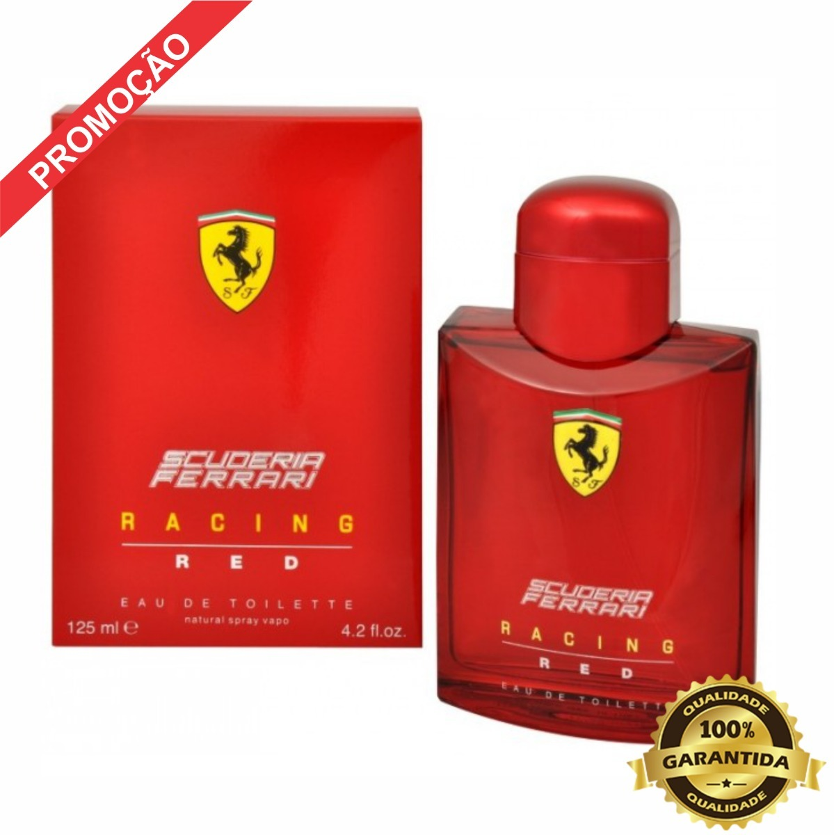 ec43662c8 perfume ferrari red racing - eau de toilette 125ml original. Carregando zoom .