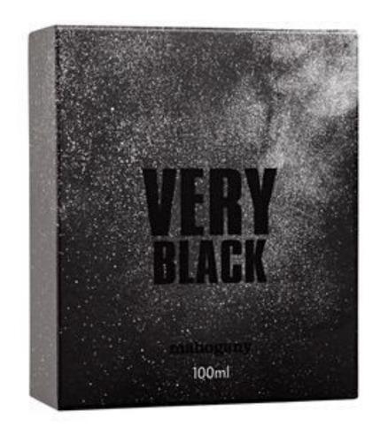 perfume fragrância des. very black 100ml - mahogany