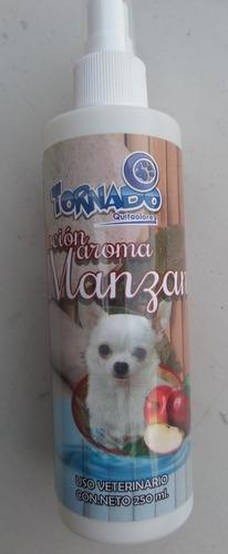 perfume frutal para mascota 250ml aroma manzana tornado