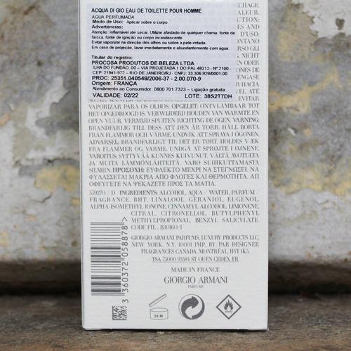 perfume giorgio armani acqua di giò masculino - 100ml