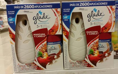 perfume glade matic automatico con repuesto 3 en 1 difusor