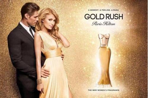 perfume gold rush 100ml by paris hilton (ultimate) set
