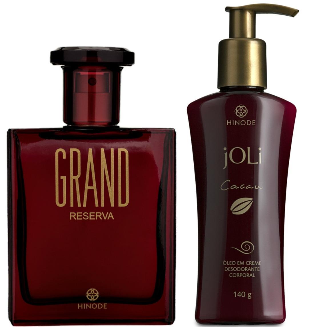0ba2f9b95 Perfume Grand Reseva + Óleo Em Creme Corporal Cacau - R  184