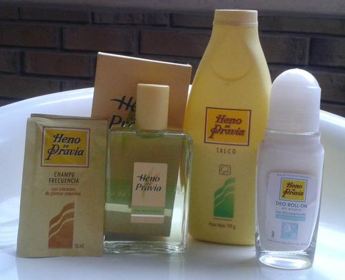 perfume heno de pravia colonia,  etc combo