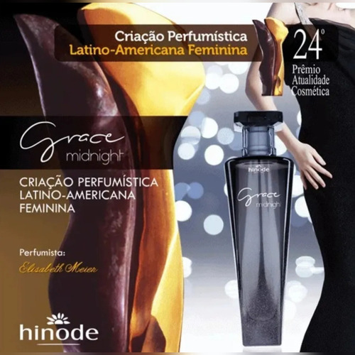perfume hinode grace midnight, feminino, 100 ml, original