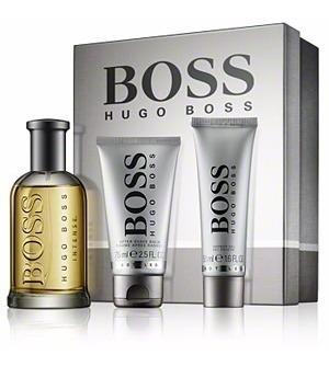 perfume hugo boss bottled 100 ml set x 3 men