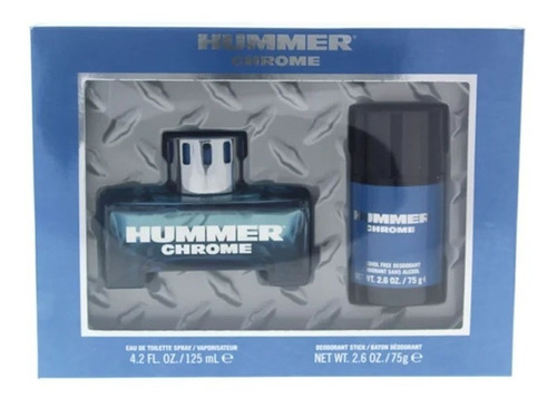 perfume hummer chrome spray 125ml + frete grátis
