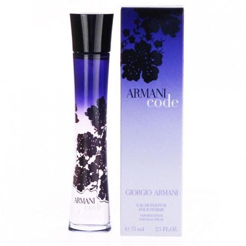 perfume importado armani code femme 75 ml edp giorgio armani