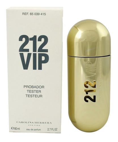 perfume importado carolina herrera 212 vip edp tester 80ml
