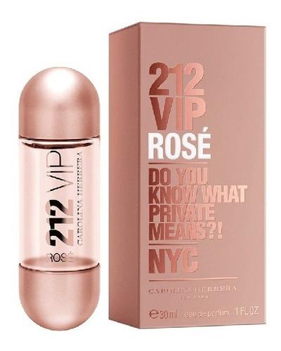 perfume importado carolina herrera 212 vip rosé wom edp 30ml