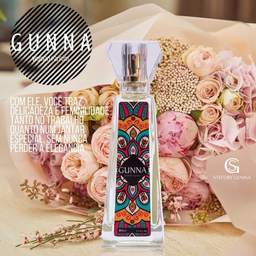 perfume importado feminino gunna 50ml mulher conquistadora