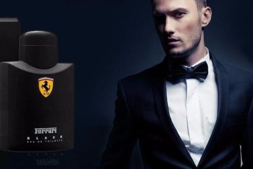 perfume-importado-ferrari black 125ml-100% original lacrado!