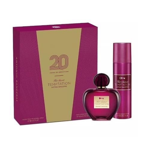 perfume importado her secret temptation edt 80ml set ss