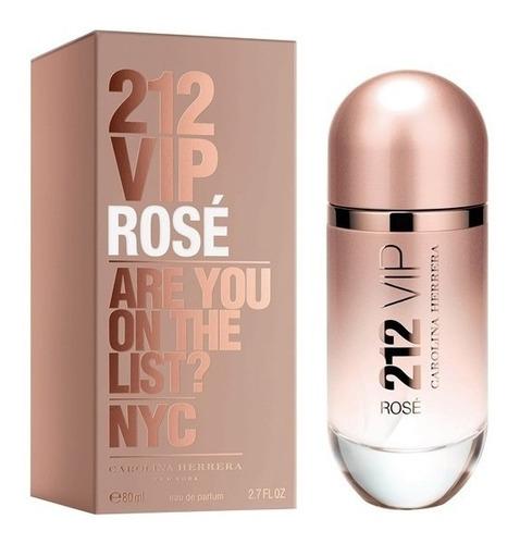 perfume importado mujer carolina herrera 212 vip rose edp  x80ml