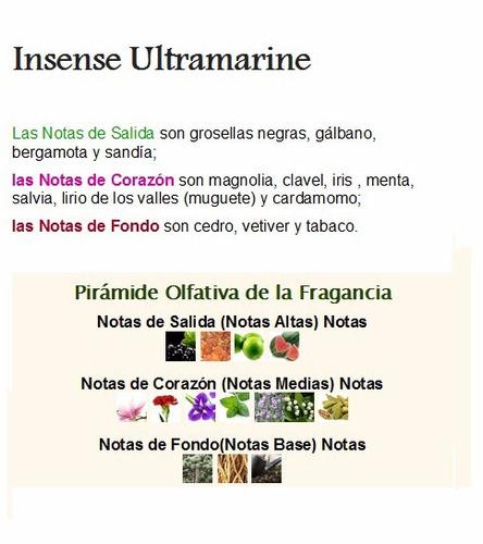 perfume insense ultramarine givenchy 100ml -- original