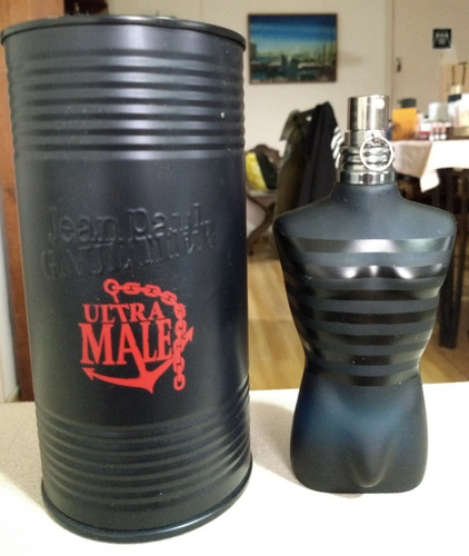 perfume jean paul gaultier ultra male 125 ml (usado)