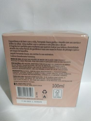 perfume jequiti fernanda souza 100 ml