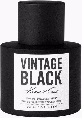 perfume kenneth cole vintage black 100ml edt original masc.