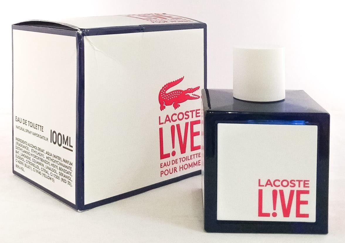 520d8b141d9 perfume lacoste live 100ml masculino eau de toilette - usado. Carregando  zoom.