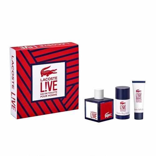 perfume lacoste live en set x 3 100 ml