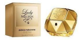 perfume lady million 80ml paco rabanne original edp