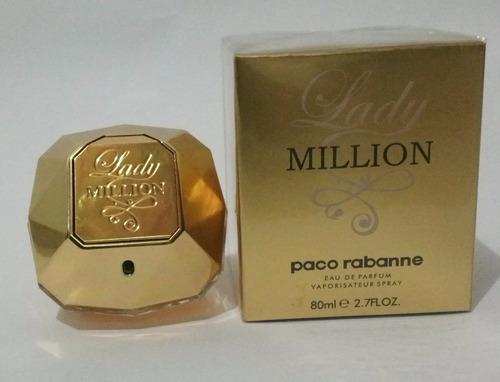 perfume lady million paco rabanne mujer 80ml original